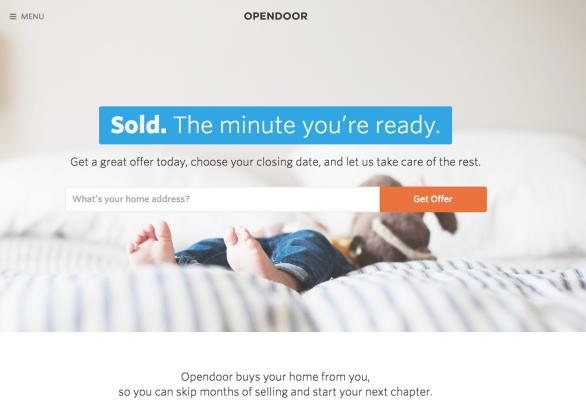 Opendoor Main Page